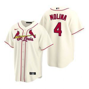 Youth St. Louis Cardinals #4 Yadier Molina Jersey